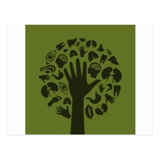 Hand a tree3 postcard