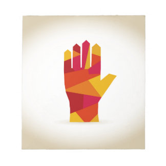 Hand abstraction notepad