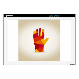 """Hand abstraction skin for 17"""" laptop"""