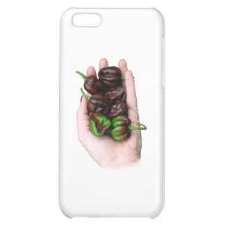 Hand and Chocolate Hot Habanero Peppers iPhone 5C Cases