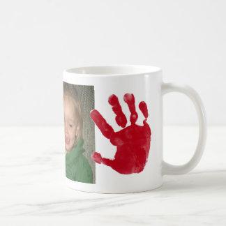 hand and foot print mug