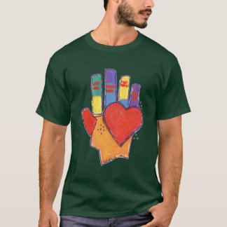 Hand and Heart by Bettigee T-Shirt