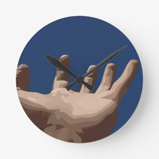 Hand and Sky Round Clock