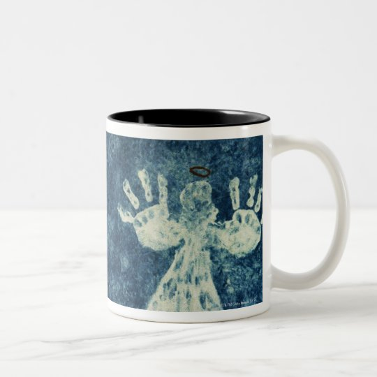 Hand Angels Two-Tone Coffee Mug