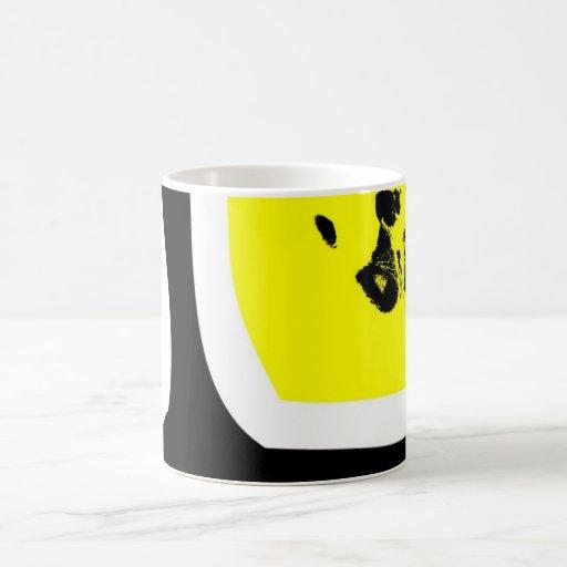 hand art classic white coffee mug