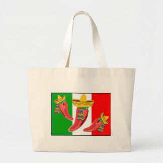 Hand Bag Mexican Flag  Chilli Peppers