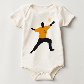 hand ball goal more keeper baby bodysuit