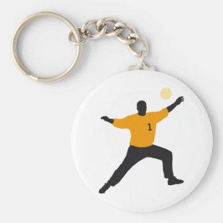 hand ball goal more keeper keychain