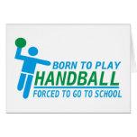 hand ball greeting card