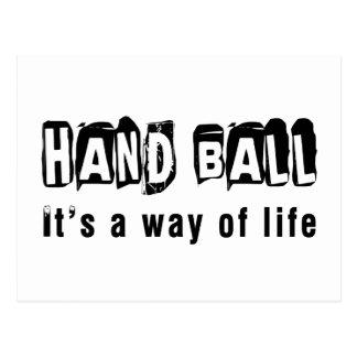 Hand Ball It's a way of life Postcard
