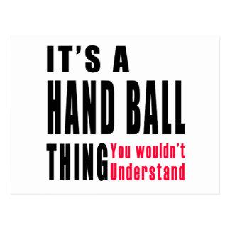 Hand Ball Thing Designs Postcard