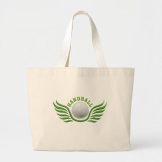 hand ball wings large tote bag