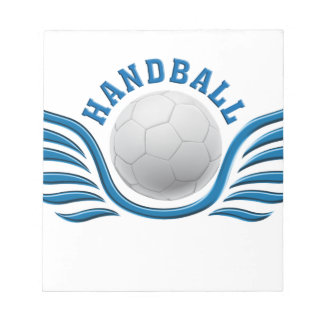hand ball wings notepad