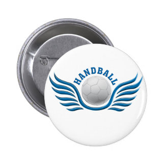 hand ball wings pinback button