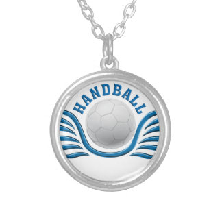 hand ball wings silver plated necklace