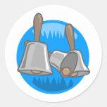 Hand Bells Classic Round Sticker