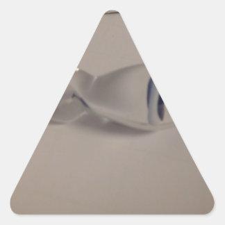 hand blown blue & white glass mushroom pendant triangle sticker