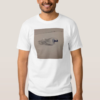 hand blown blue & white glass mushroom pendant t-shirt