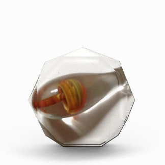 hand blown orange glass mushroom pendant award