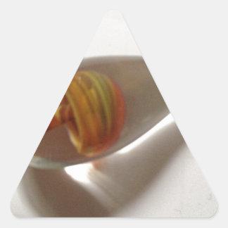 hand blown orange glass mushroom pendant triangle sticker