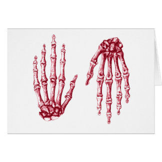 Hand bones card