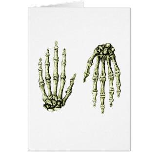 Hand bones. card