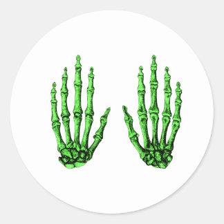 Hand bones. classic round sticker
