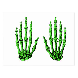 Hand bones. postcard