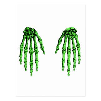 Hand bones postcard