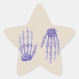 Hand bones. star sticker