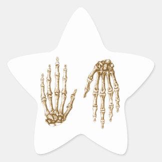 Hand bones star sticker