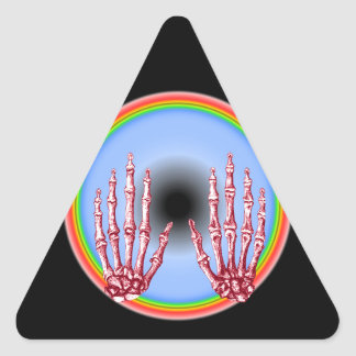 Hand bones. triangle sticker