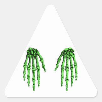 Hand bones triangle sticker