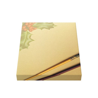 Hand book with pen and pencil canvas print