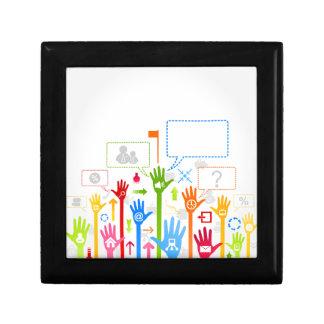 Hand business gift box