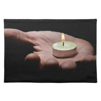 Hand carrying light. cloth placemat