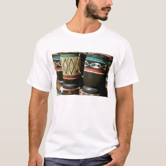 Hand carved drums, Livingston, Zambia T-Shirt