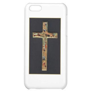 Hand Carved Gold Cross iPhone 5C Cover