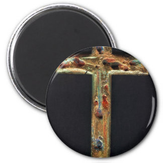 Hand Carved Gold Cross Magnet