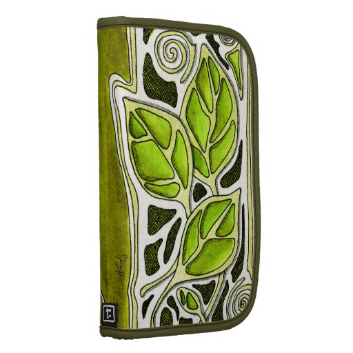 Hand Carved Leaves in Green Organizers