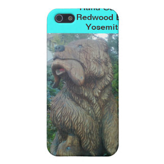 Hand Carved Redwood Bear at Yosemite Speck Case