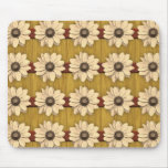 Hand Carved Wooden Daisies Mousepads