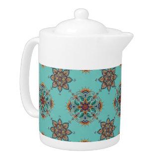 Hand-Colored Design 1 Medium Tea Pot