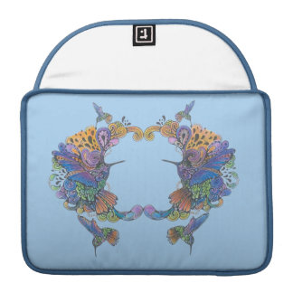 Hand-Colored Hummingbirds Nesting Sleeves For MacBook Pro