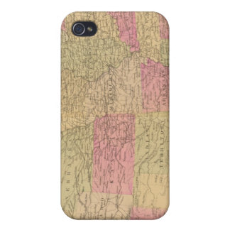 Hand colored lithographed map of the United States iPhone 4 Cases