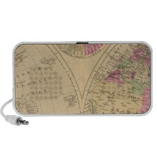 Hand colored lithographed map of the World iPod Speaker