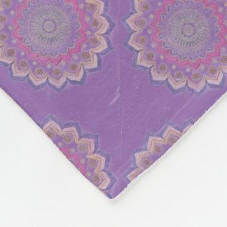 Hand-Colored Mandala 19 Fleece Blanket