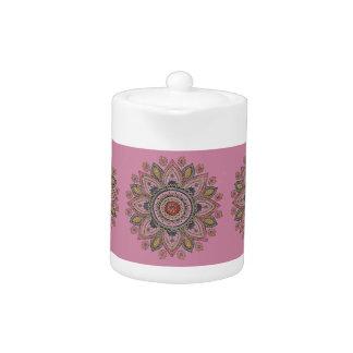 Hand-Colored Mandala Teapot