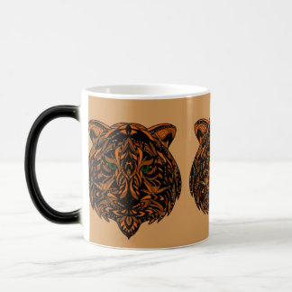 Hand-Colored Tiger Design Multiple Products 11 Oz Magic Heat Color-Changing Coffee Mug