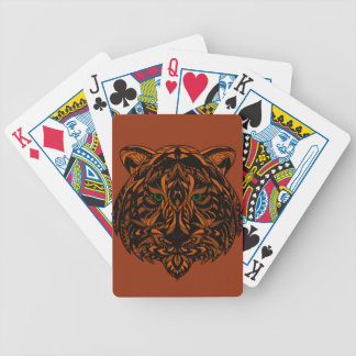 Hand-Colored Tiger Design Multiple Products Bicycle Playing Cards